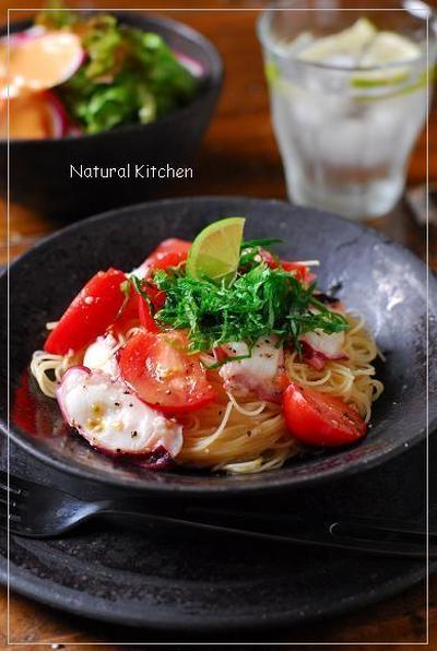 蛸とフルーツトマトの和風カッペリーニと、ある日のお弁当&おかずのレシピ