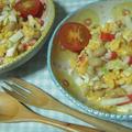 白菜と蒸し大豆のサラダ・すだち風味