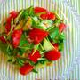 赤と緑のごま塩サラダ♪おかか風味