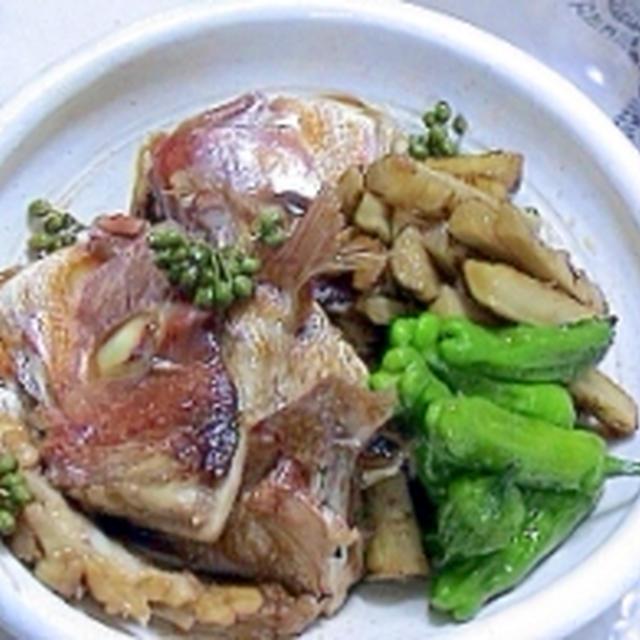 鯛のアラの山椒煮