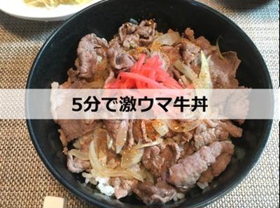 【実証】たった5分で激ウマの牛丼を作る方法はこれだ!