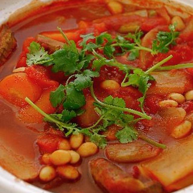 ちょい干し野菜のチリビーンズ鍋