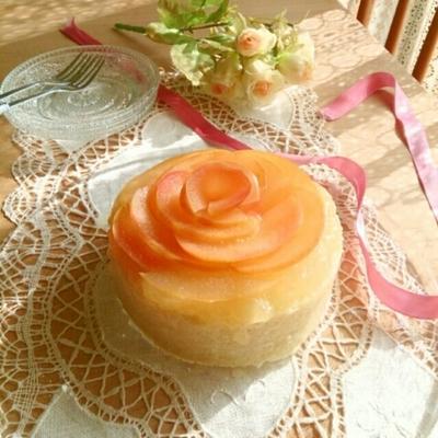 林檎とメレンゲのヘルシーケーキ。