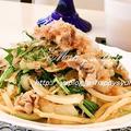 水菜&豚の生姜焼き風味☆焼うどん by ジャカランダさん