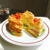 カレー玉子のサンドイッチケーキ