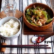 【めっちゃ簡単カフェごはん】ニラとキャベツと豚バラの塩ダレ煮