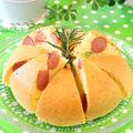 炊飯器でふわふわローズマリ-ソーセージパンケーキ