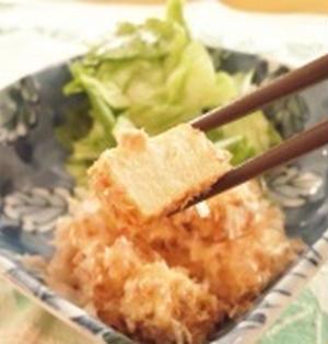 プリプリ高野豆腐のおかかまぶし