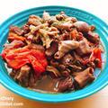 【レシピ】簡単!豚モツとトマトの赤ワイン煮込み