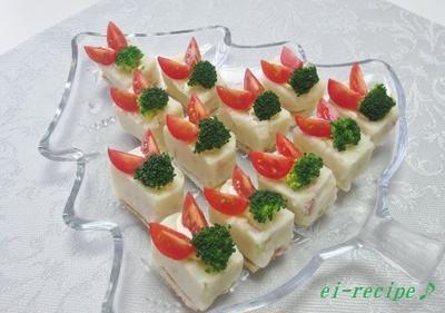<ベーコン入りマッシュポテトサラダ~クリスマスバージョン♪>