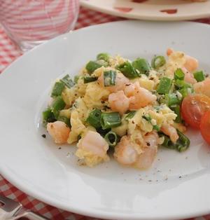 えびマヨ卵炒め