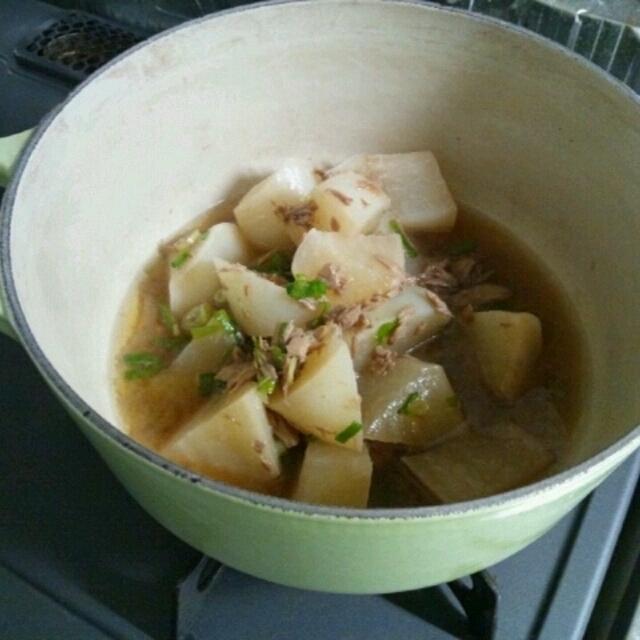 ツナと大根の煮物からシチュー