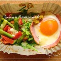 ☆ 温野菜と ハムエッグ チーズ リゾット☆