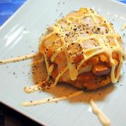 南瓜とリンゴのモッツァレラチーズ焼き~♡