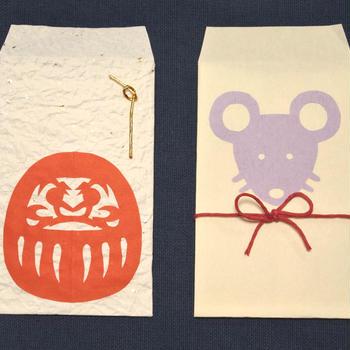 切り紙:干支のぽち袋