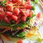 パーティー用に覚えておきたいテクニック!ひと手間かけた大盛りサラダの盛り付け。ミルフィーユサラダ