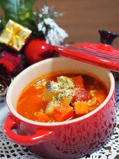 ミネストローネの献立レシピ集。野菜たっぷりスープにあわせるなら、これ!