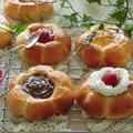 掲載レシピ*簡単!菓子パン用お花パン、父の日にもおすすめ!