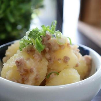 冬のほっこり~♪ じゃがいもと挽肉の粉吹き芋   レシピ