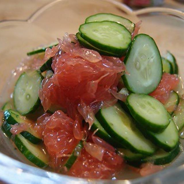 キュウリの塩麹フルーツ・サラダ