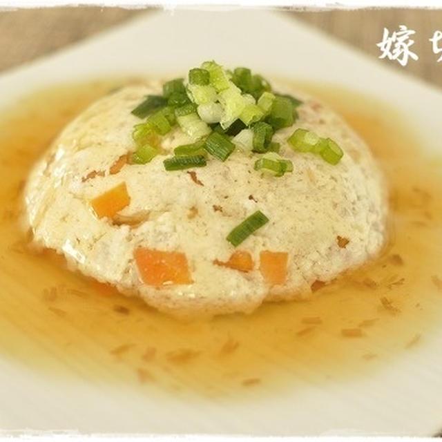 ふわふわ温か。レンチンで簡単に♪豆腐とひき肉のあんかけ。