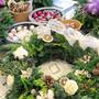 お花屋さんでフレッシュクリスマスリース作りました♪