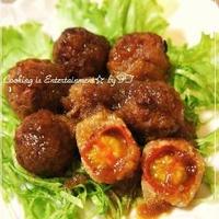 【ミニトマトのage☆age☆ハンバーグ】~ポン酢おろしソース