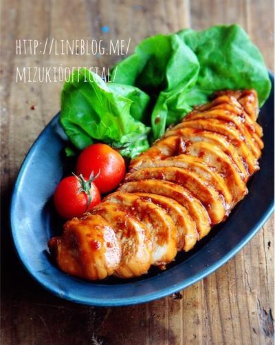 ♡作り置き&お弁当にも♡鶏むね肉の醤油煮♡【#簡単#時短#節約#鶏チャーシュー】