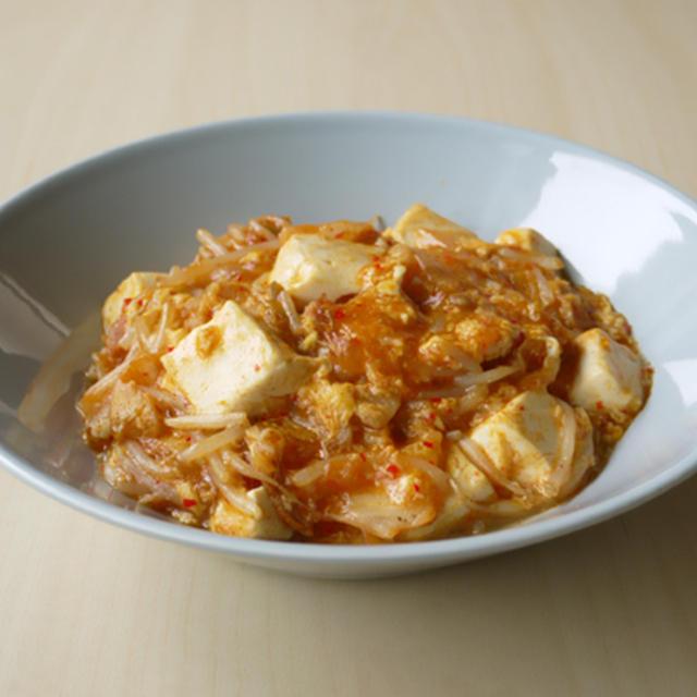 豆腐ともやしの豚キムチ煮