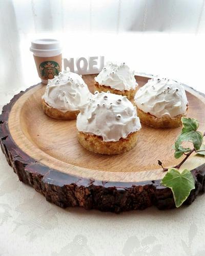 簡単☆スタバ風ホワイトケーキ(Blondie/ブロンディ)☆クリスマスレシピ