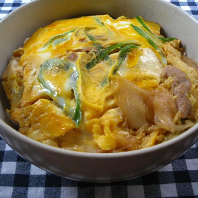 焼き豆腐の卵とじ丼