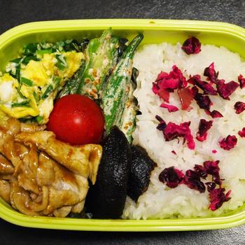 9月3日☆今日のお弁当は、豚肉の冷しゃぶカレーソース弁当