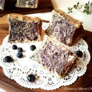 ブルーベリーのマーブルシフォンケーキ
