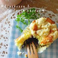 ブルーベリー&クリームチーズのクランブルマフィン。
