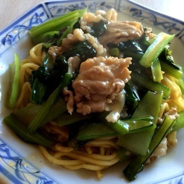 豚と小松菜のあんかけ焼きそば※レシピ付き