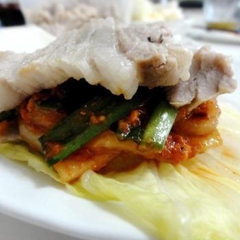レシピ・白菜のみずみずしさと豚肉の旨味、豚肉のポッサム