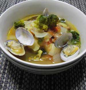 福豆とあさりのスープ