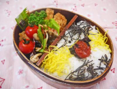 今日のお弁当ときりまりちゃんの常備菜のつくれぽ^^