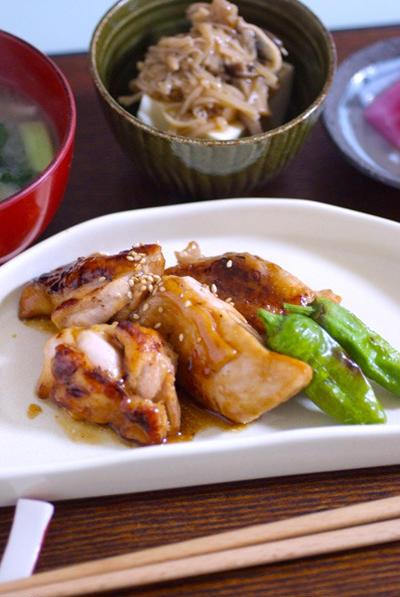 「鶏照り焼き」柔らかくできた!お肉にも日本酒が有効〜