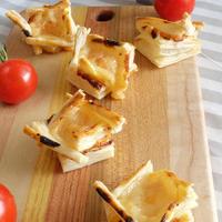 コンテチーズと酒粕のフィンガーパイ