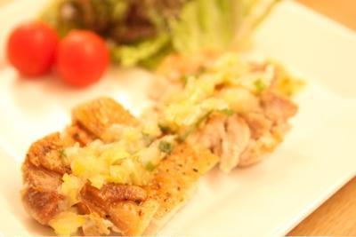 香味塩ダレ☆鶏ステーキ