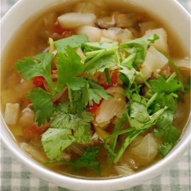 夏のデトックス味噌スープ
