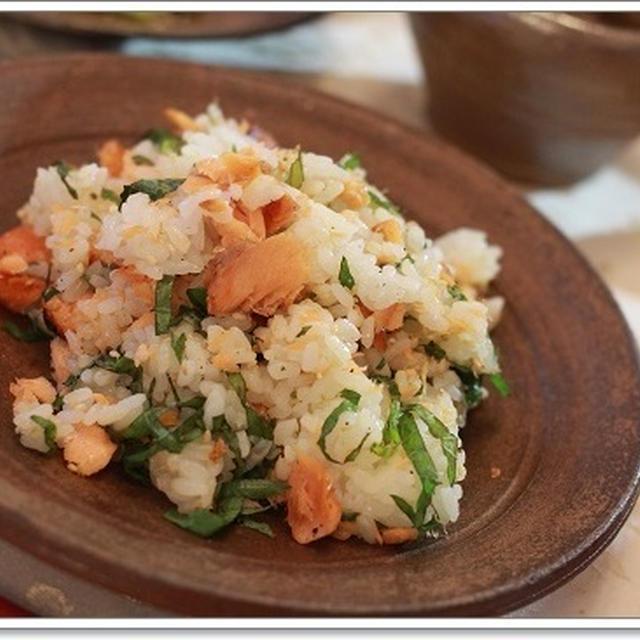 鮭と大葉の散らし寿司☆夜時間☆