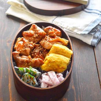 【お弁当】焼き鳥丼弁当 #たけのこをいただきました^^