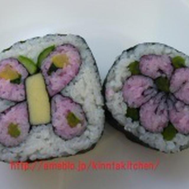 飾り巻き寿司 お花とあげは蝶 PAULのチョコレートクロワッサン!!