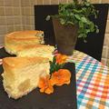 シュワッと美味しいリンゴのコンポート入りスフレチーズケーキ~♪♪今日は薪ストーブ点火!!