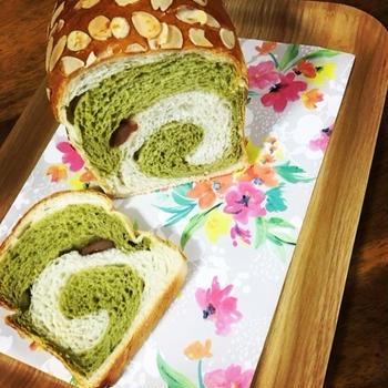 抹茶うずまきパン