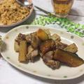 長芋と南瓜☆鶏もも肉のオイスターソースソテー
