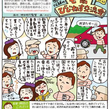コミックエッセイ:嗚呼!!伝統の七高びじねす交流会 No.62&63&64(東都よみうり)