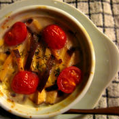 手間がかからない♪ *スモークチーズと豆腐のオーブン焼き